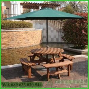Meja Payung Bulat Full Jati