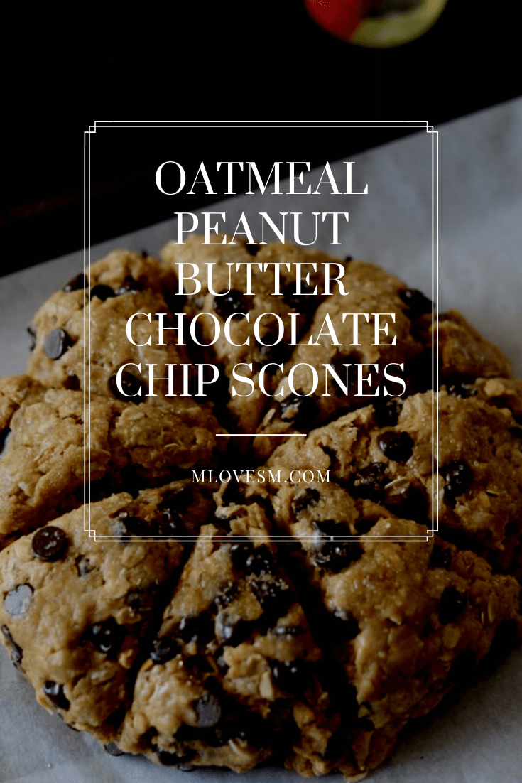 These oatmeal peanut butter chocolate chip scones are so delicious! - M Loves M @marmar