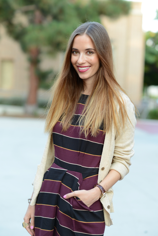 striped dress for fall, M Loves M