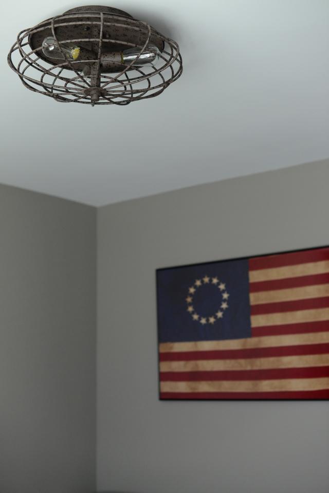 vintage industrial ceiling lamp, M Loves M