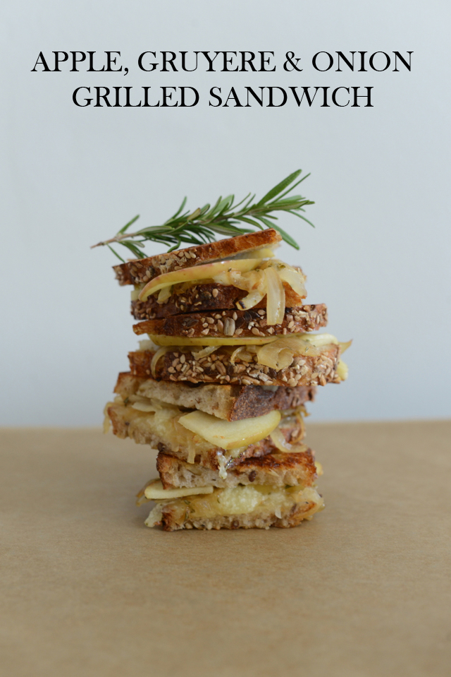 apple, gruyere and golden onion grilled cheese via M Loves M @marmar
