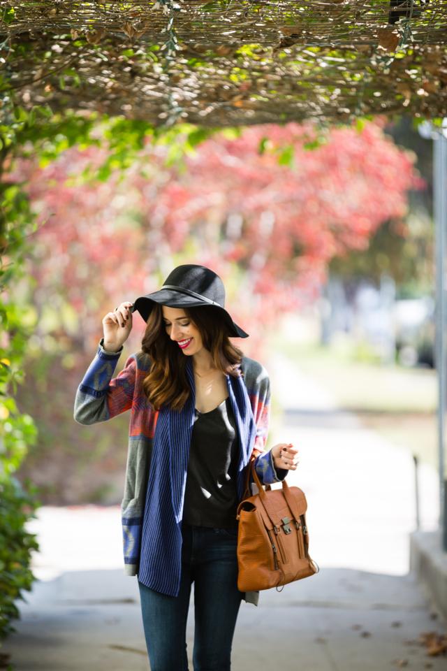 black hat with cynthia vincent cardigan via M Loves M @marmar