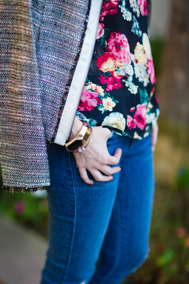 tweed and floral outfit via M Loves M @marmar