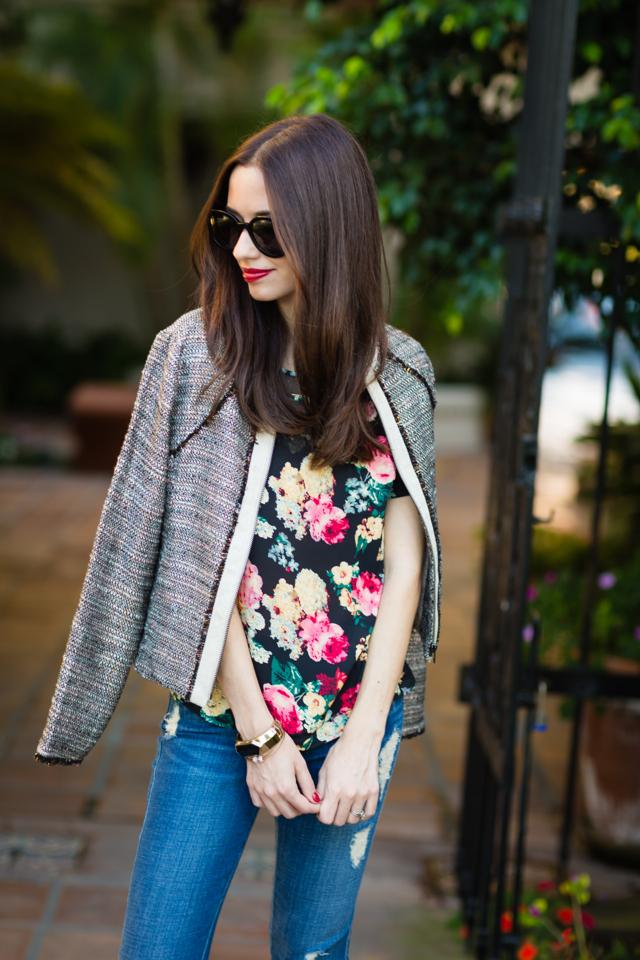 floral Ruche top via M Loves M @marmar