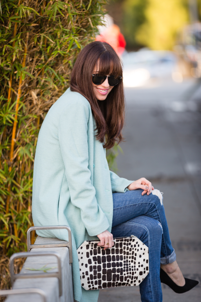 nordstrom light blue coat with james jeans via M Loves M @marmar