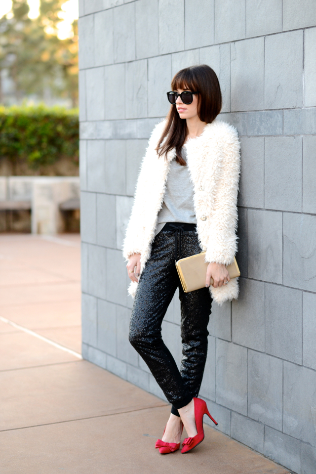 how to wear sequins during the holidays via M Loves M @marmar