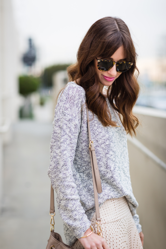 M Loves M gray marled sweater @marmar