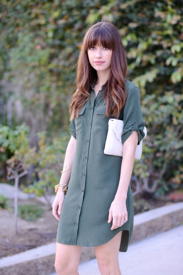 army green shirtdress M Loves M @marmar