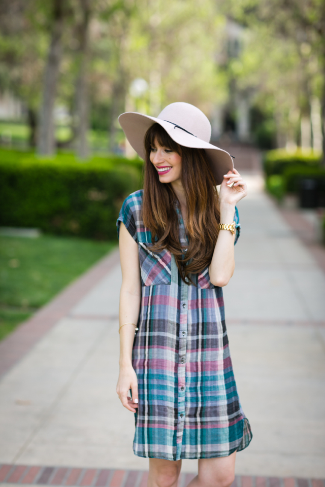 plaid shirtdress from anthropologie on M Loves M @Marmar