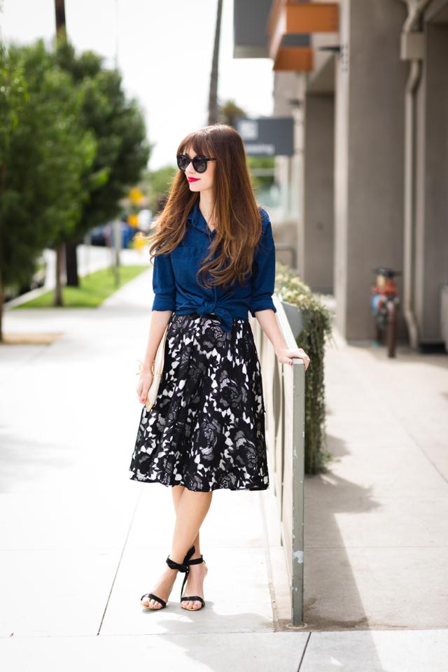 chambray skirt and midi skirt M Loves M @marmar