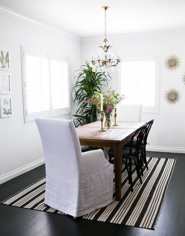 M Loves M Home Tour salvaged wood farmhouse table dining room @marmar