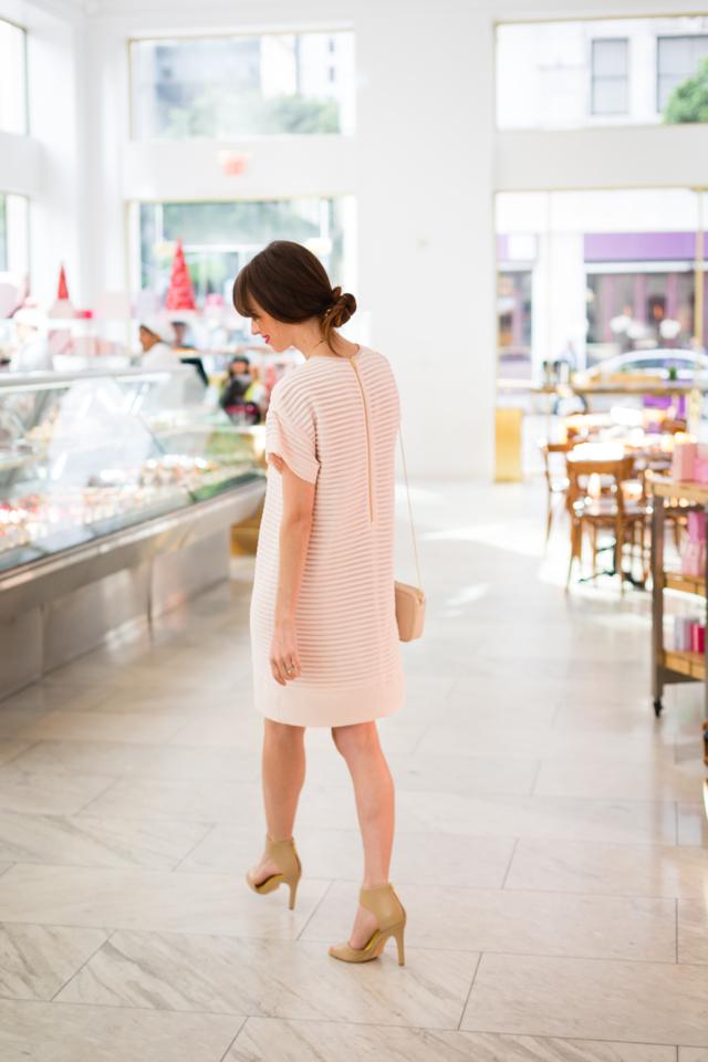 pink pleated feminine dress M Loves M @marmar