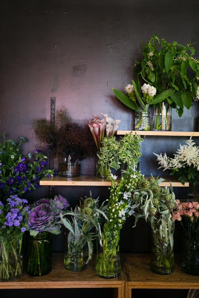 cute flower shop in LA at clementine floral works M Loves M @marmar