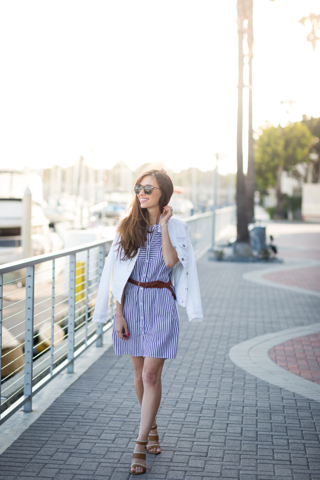 easy summer outfit striped shirtdress M Loves M @marmar