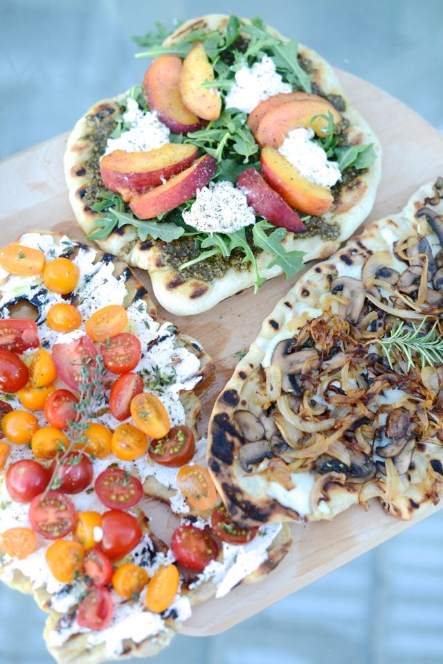 grilled pizza recipes three ways M Loves M @marmar
