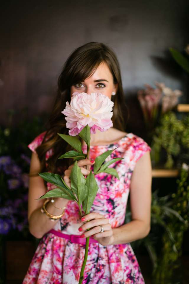 flower shop shoot with aerin beauty M Loves M @marmar