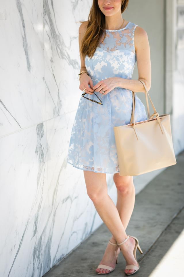 pretty light blue summer dress from Nordstrom on M Loves M @marmar
