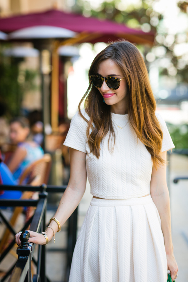 matching cream top and skirt set M Loves M Los Angeles Blogger @marmar