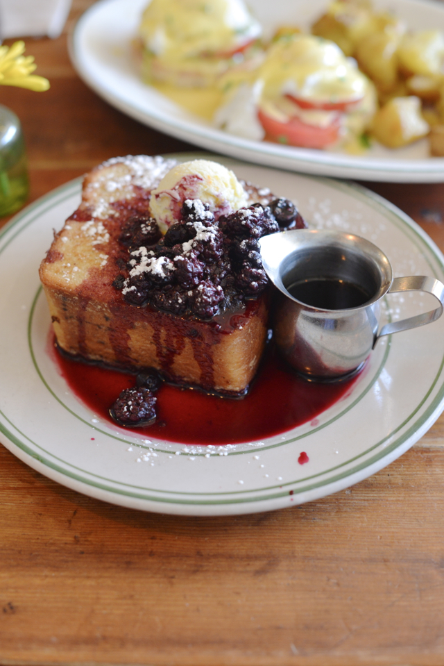 brioche french toast from Oddfellows Cafe and Bar in Seattle, Washington M Loves M @marmar
