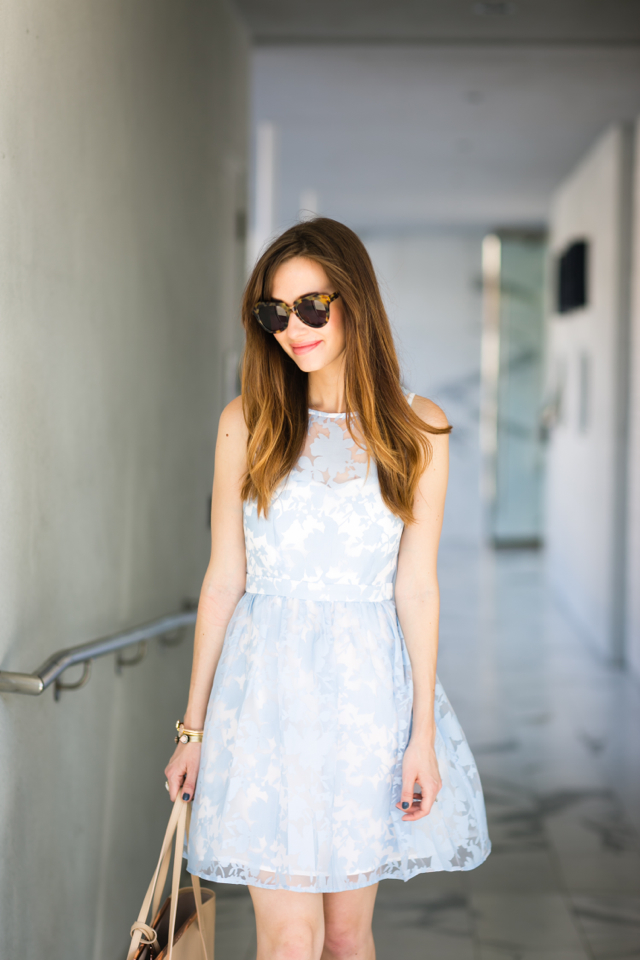 light blue floral dress M Loves M @marmar