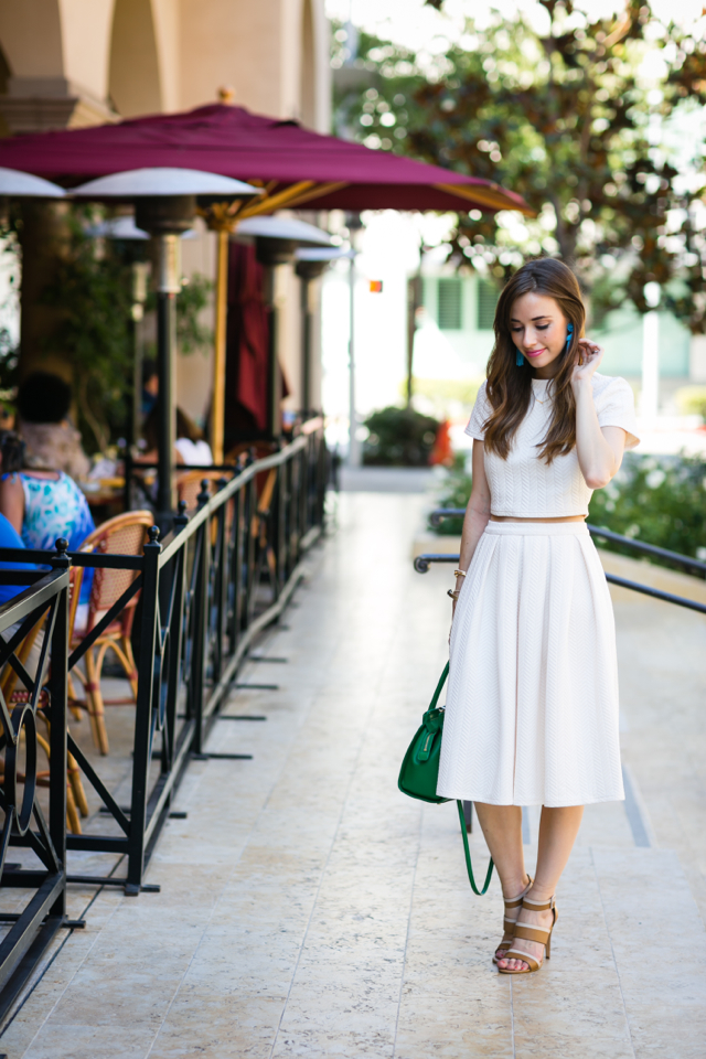 matching cream top and skirt set from Nordstrom on M Loves M Los Angeles Blogger @marmar