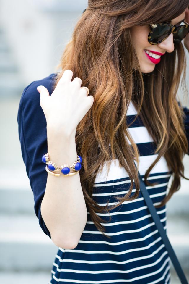 cute summer striped dress with tortoise sunglasses M Loves M @marmar