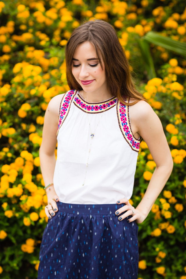 pretty embroidered top M Loves M @marmar