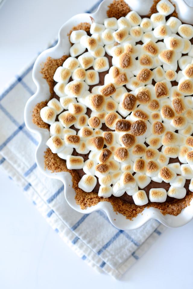 s'mores pudding pie recipe M Loves M @marmar