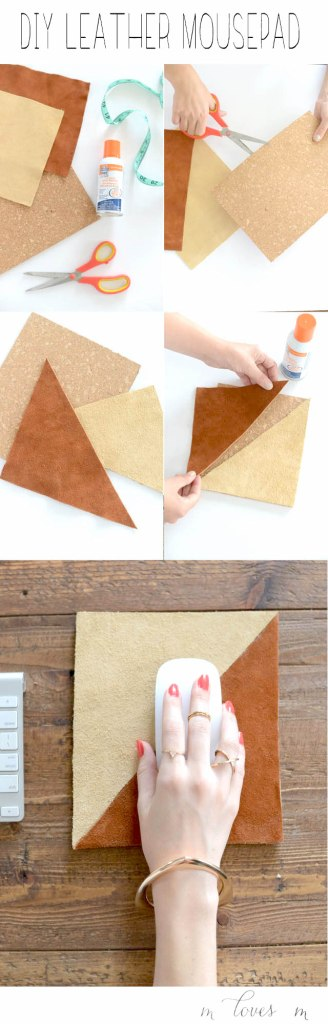 Easy DIY for Leather Mouse Pad M Loves M @marmar