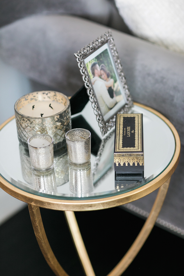 mirrored gold side table M Loves M @marmar