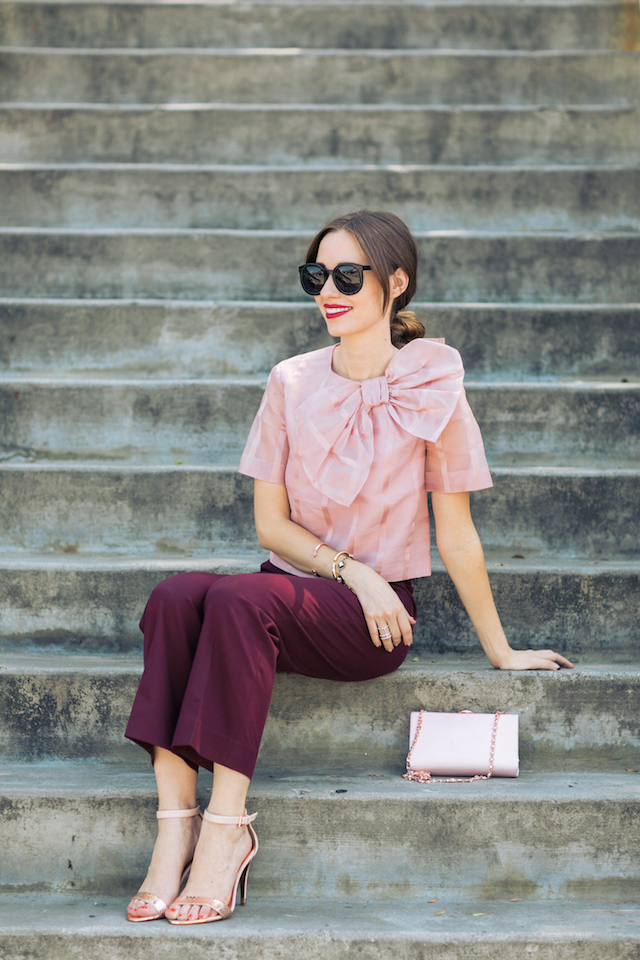 pink bow blouse M Loves M @marmar