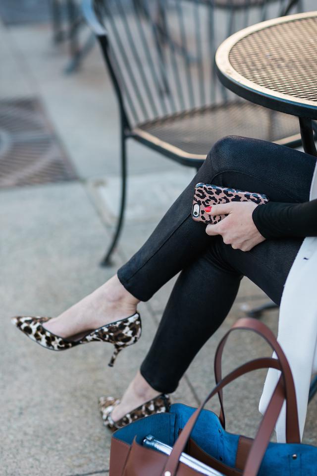 leopard print shoes with leopard print phone case M Loves M @marmar