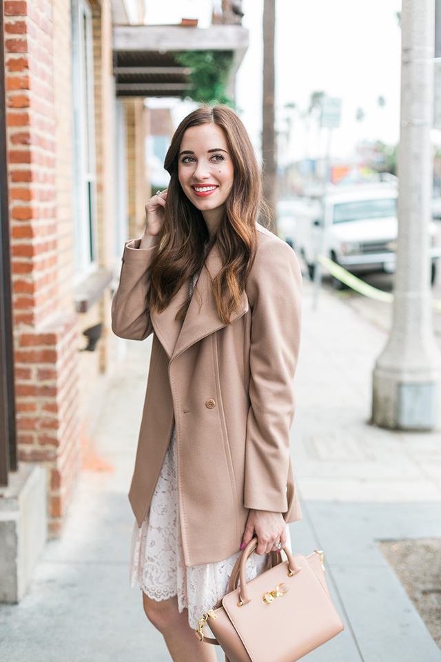 brown wool coat for winter by M Loves M