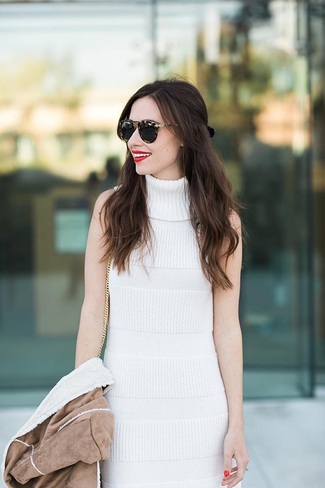 cream sleeveless dress on M Loves M