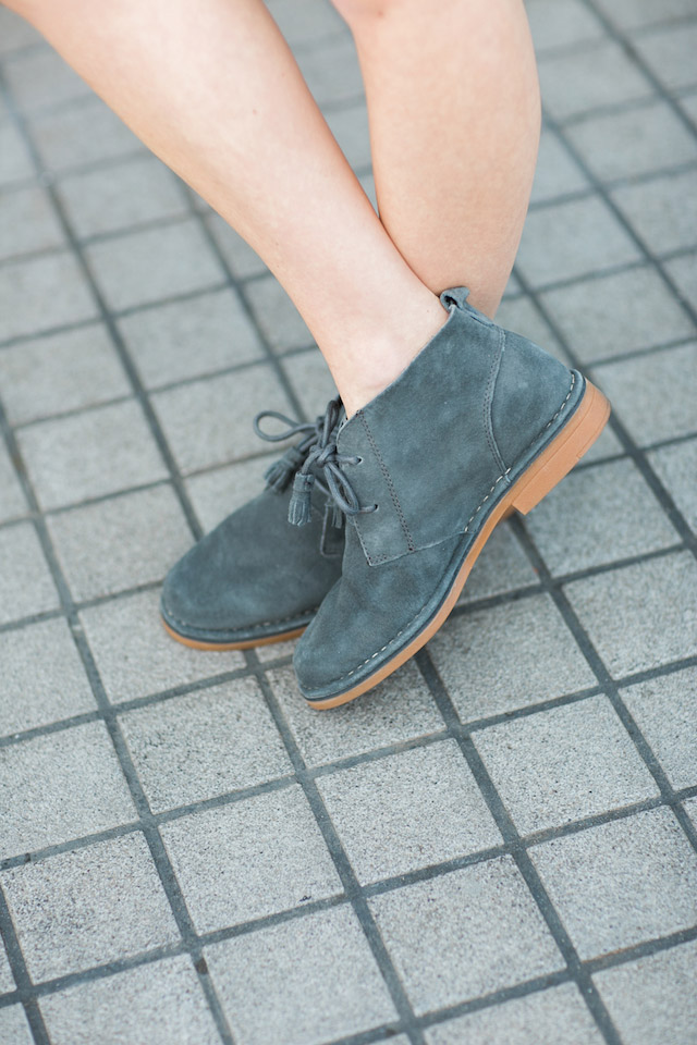 gray desert boots from Hush Puppies by M Loves M