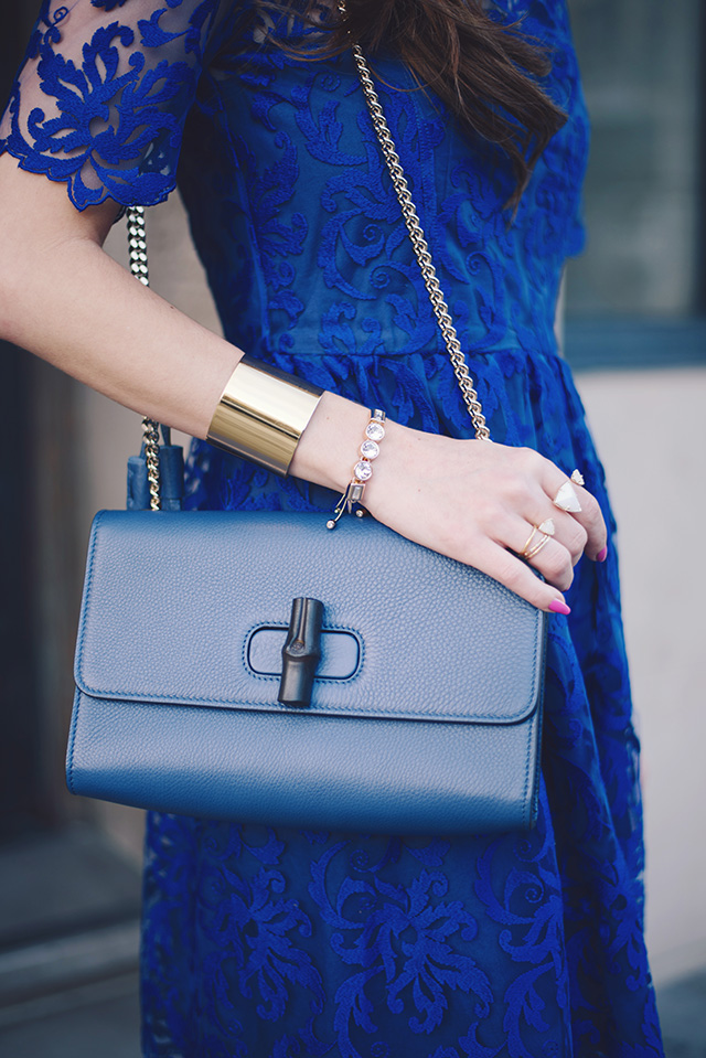 blue gucci shoulder bag with chain strap from yoox on M Loves M