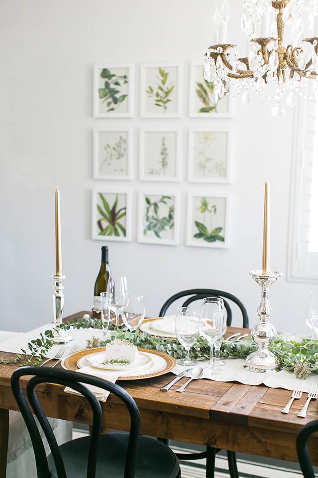 elegant dinner party idea M Loves M