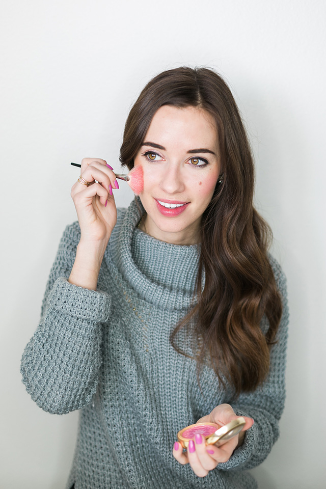 add blush to a bronzy makeup tutorial for a fresh and natural look by M Loves M