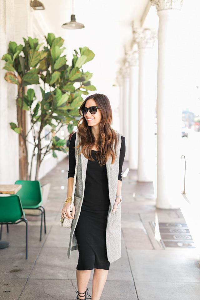 black long sleeve dress M Loves M