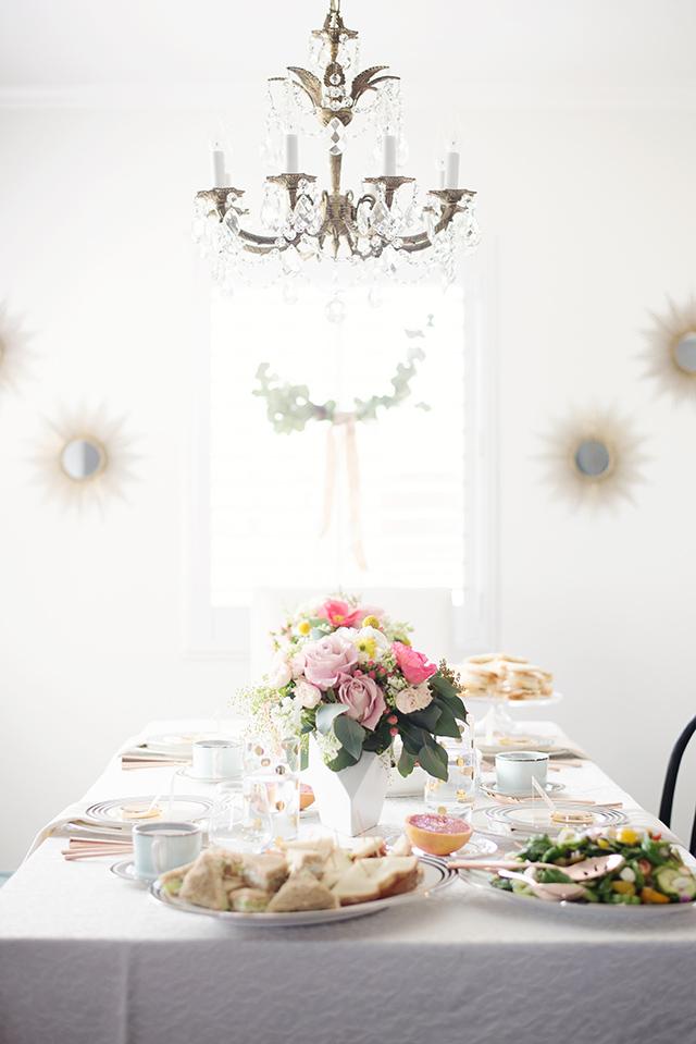 a pretty bridesmaid lunch or bridal shower idea M Loves M