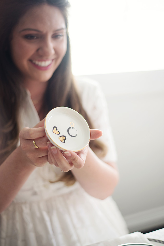 an adorable ring dish is the perfect gift for the bride to be - M Loves M