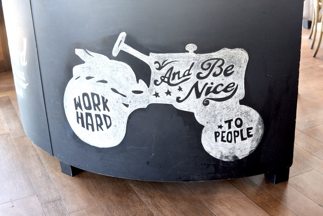 work hard and be nice to people M Loves M