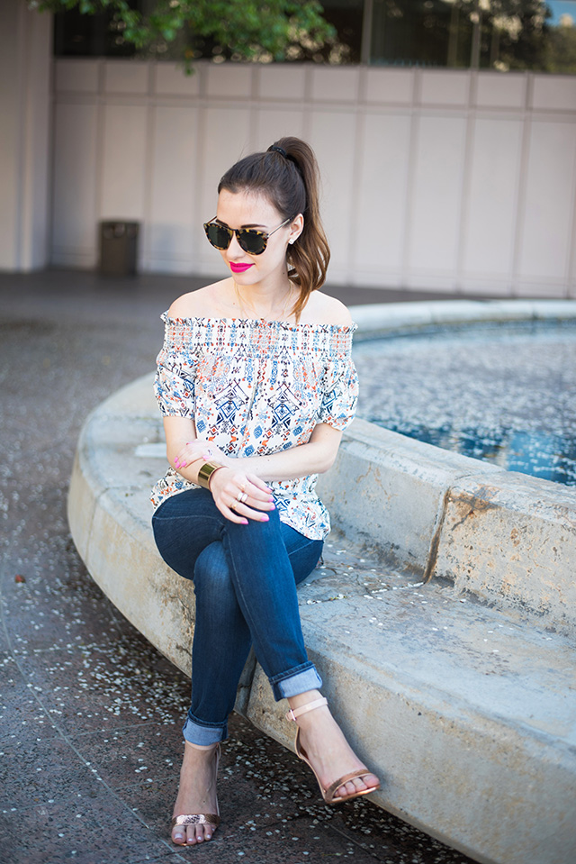 styling an off the shoulder top M Loves M