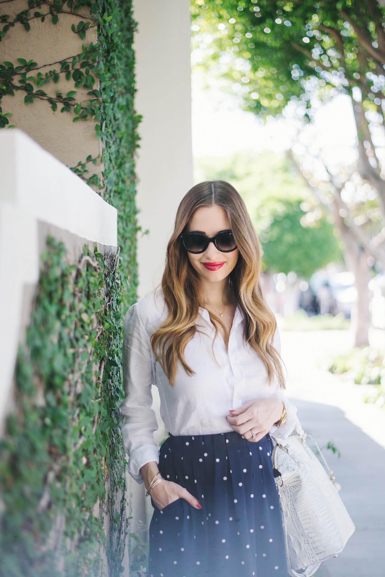 styling a white linen button-up shirt