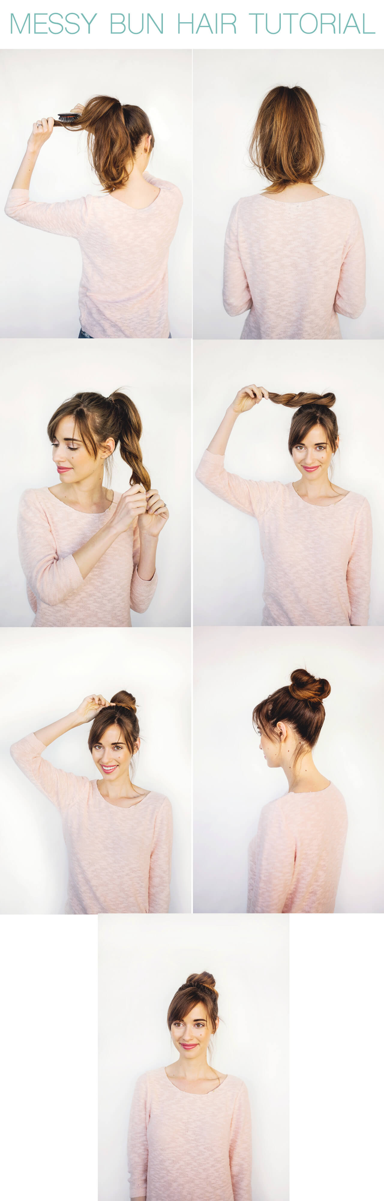 how to easily achieve a messy bun. click through for the hair tutorial!