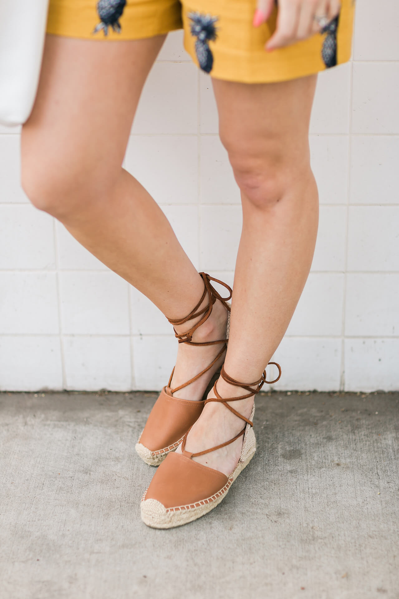 comfortable brown leather espadrille flats by soludos