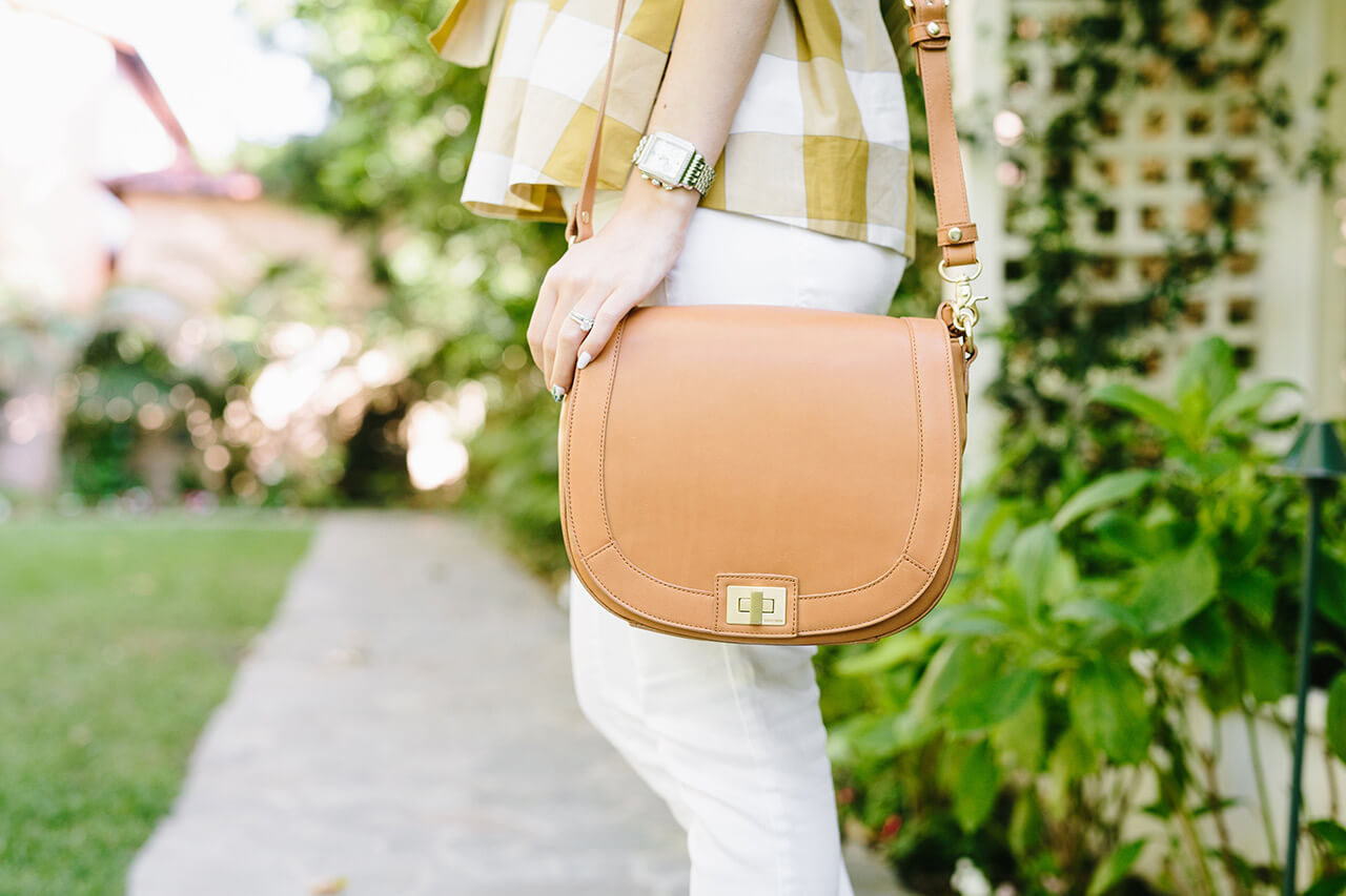 brown smooth leather crossbody bag