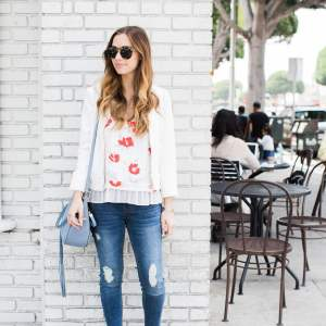 a dressed up casual outfit that's perfect for a day in los angeles