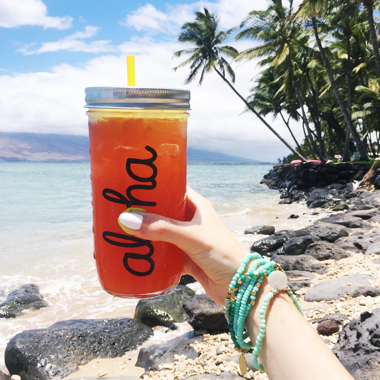 gourmet lemonades in mason jars from Wow Wow Hawaiian Lemonade in Kihei Maui