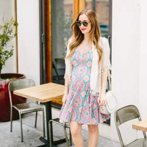 eclectic anthropologie print dress
